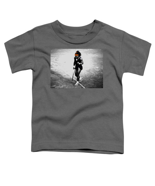 Serena Williams Match Point 3a Toddler T-Shirt by Brian Reaves