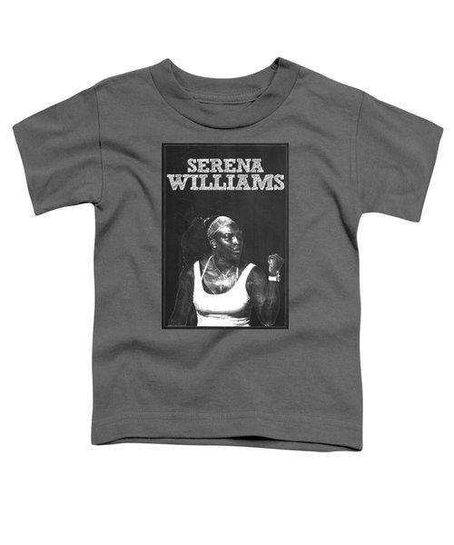 Serena Williams Toddler T-Shirt by Semih Yurdabak