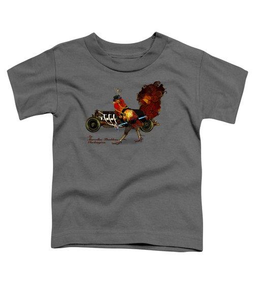 Sir Marcellus Thaddeus Cluckington Toddler T-Shirt by Iowan Stone-Flowers