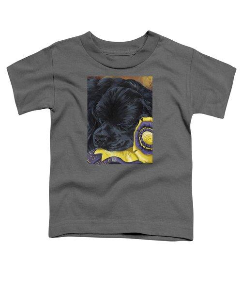 Sleepy Time Spader Toddler T-Shirt by Gilda Goodwin