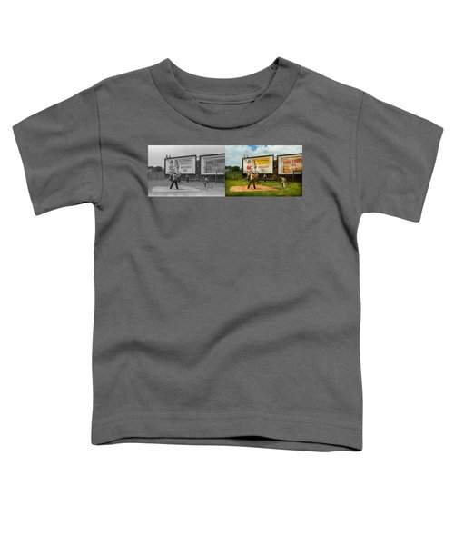 Sport - Baseball - America's Past Time 1943 - Side By Side Toddler T-Shirt by Mike Savad