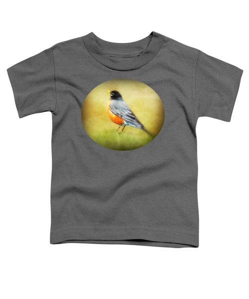 Spring Robin Toddler T-Shirt by Anita Faye