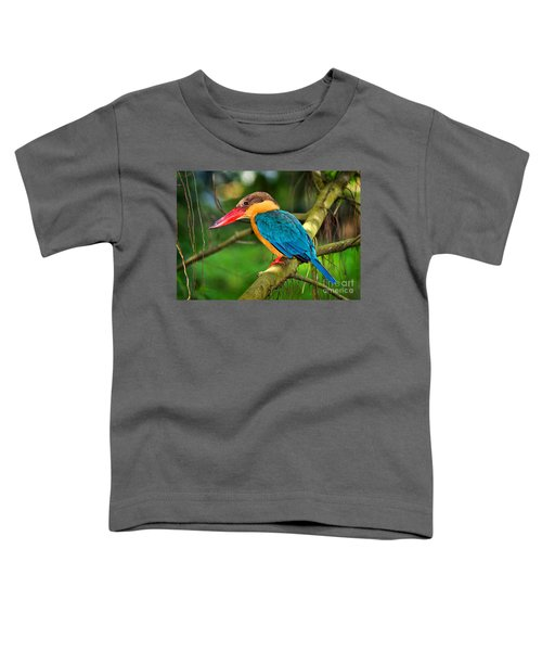 Stork-billed Kingfisher Toddler T-Shirt by Louise Heusinkveld