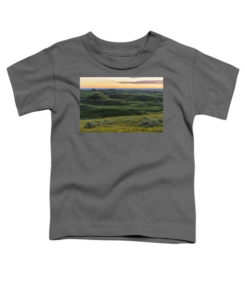 Sunset Over Killdeer Badlands Toddler T-Shirt by Robert Postma