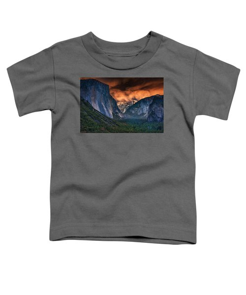 Sunset Skies Over Yosemite Valley Toddler T-Shirt by Rick Berk