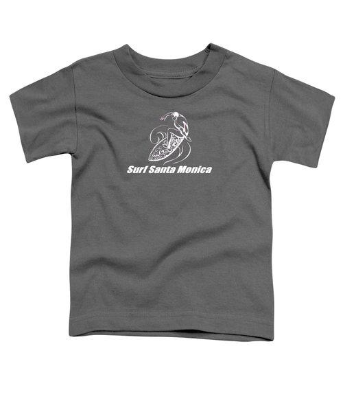 Surf Santa Monica Toddler T-Shirt by Brian's T-shirts