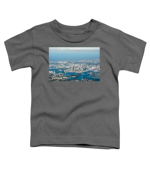 Sydney From The Air Toddler T-Shirt by Parker Cunningham