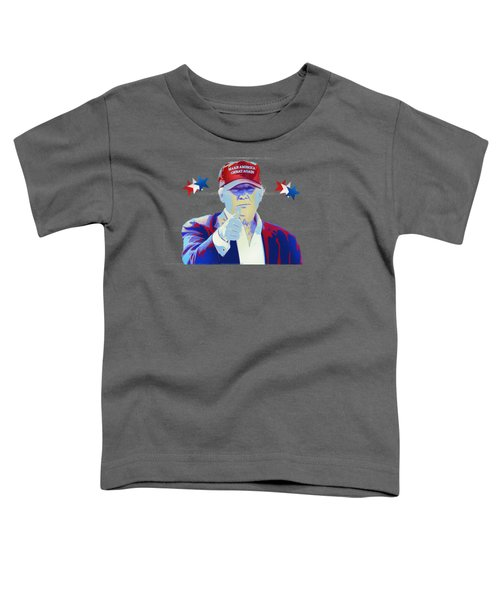 T R U M P Donald Trump Toddler T-Shirt by Mr Freedom