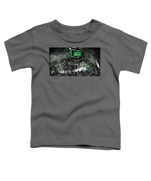 The Boston Celtics 2008 Nba Finals Toddler T-Shirt by Brian Reaves
