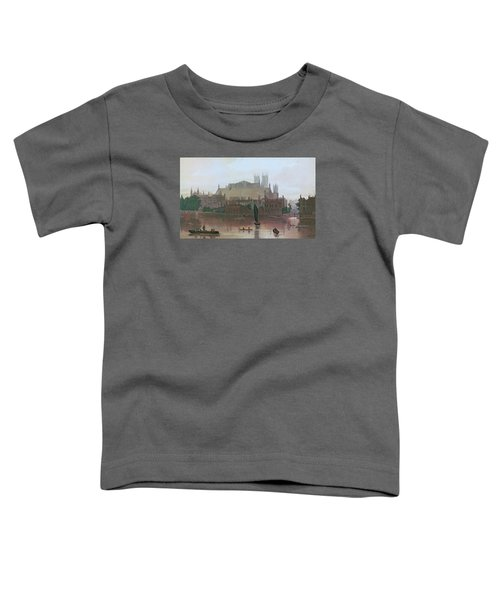 The Houses Of Parliament Toddler T-Shirt by George Fennel Robson