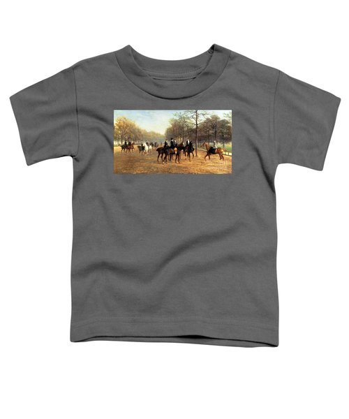 The Morning Ride Rotten Row Hyde Park Toddler T-Shirt by Heywood Hardy