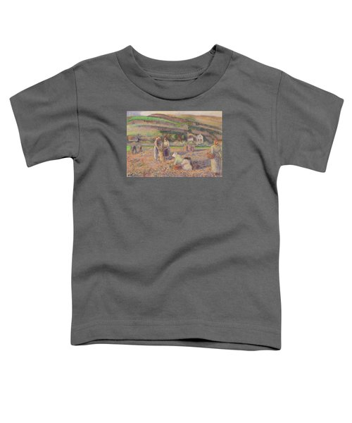 The Potato Harvest Toddler T-Shirt by Camille Pissarro