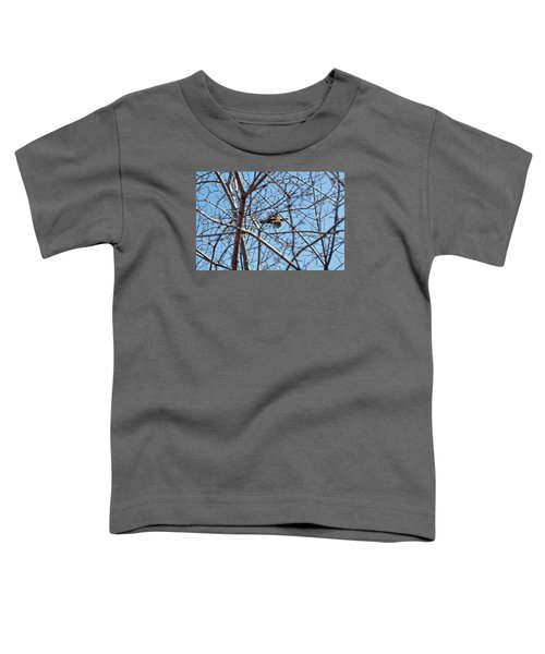 The Ruffed Grouse Flying Through Trees And Branches Toddler T-Shirt by Asbed Iskedjian