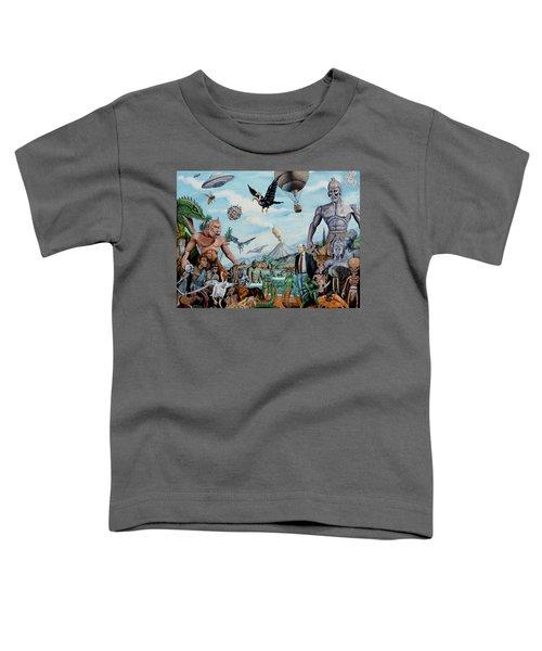 The World Of Ray Harryhausen Toddler T-Shirt by Tony Banos