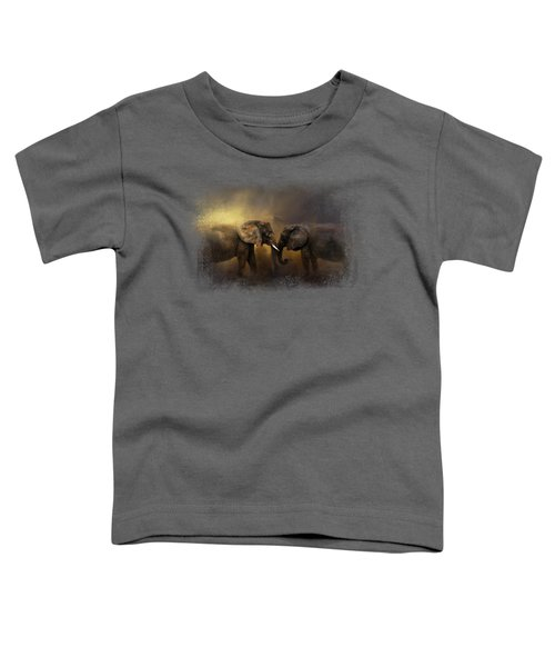 Together Through The Storms Toddler T-Shirt by Jai Johnson