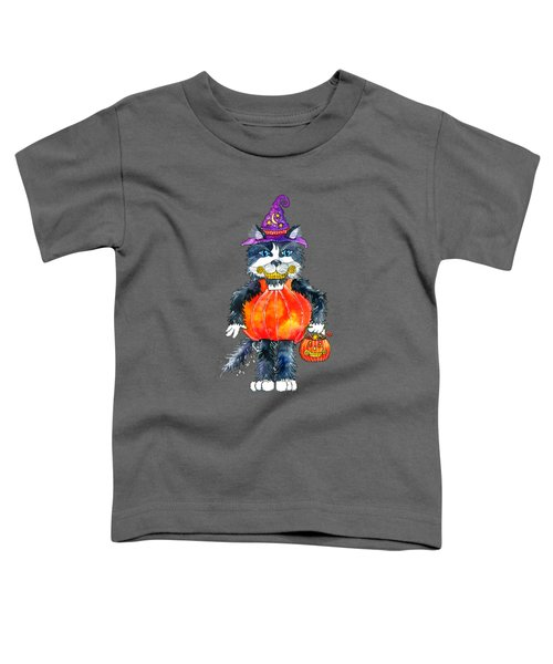 Trick Or Treat Toddler T-Shirt by Shelley Wallace Ylst