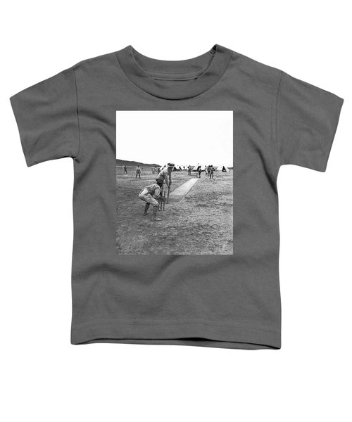 Troops Playing Cricket Toddler T-Shirt by Underwood Archives