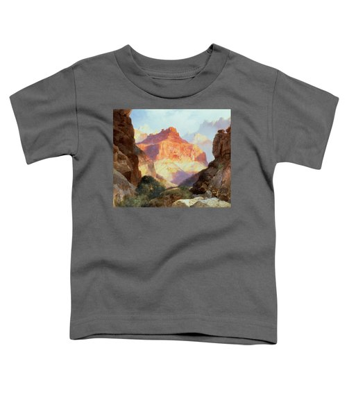 Under The Red Wall Toddler T-Shirt by Thomas Moran