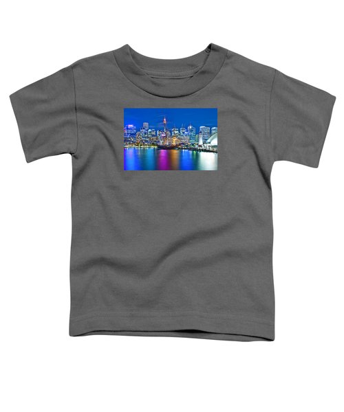 Vibrant Darling Harbour Toddler T-Shirt by Az Jackson