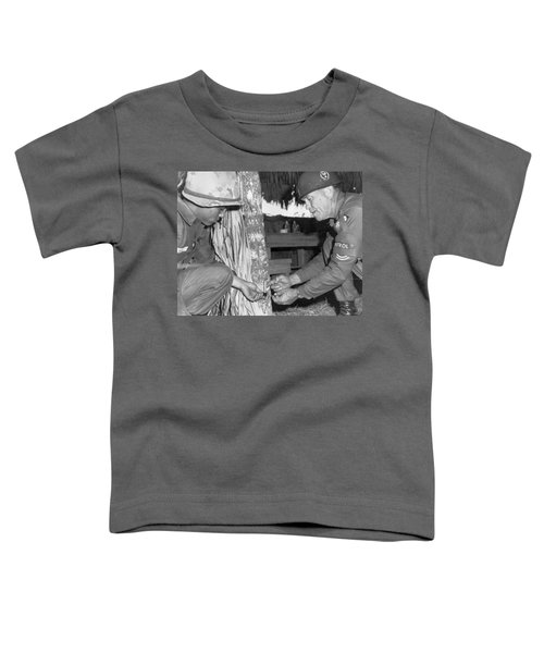 Viet Cong Booby Trap Toddler T-Shirt by Underwood Archives