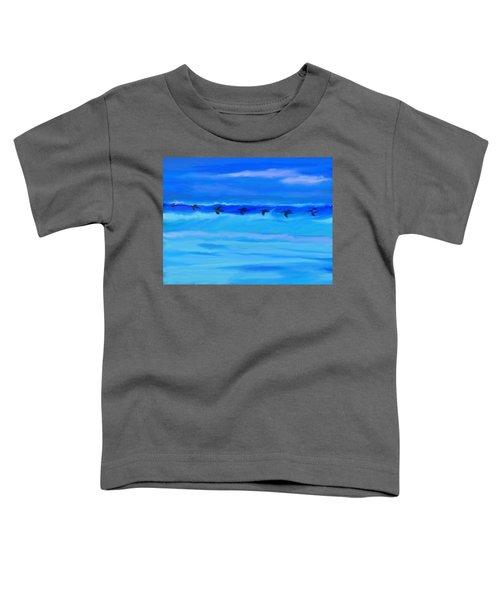 Vol De Pelicans Toddler T-Shirt by Aline Halle-Gilbert