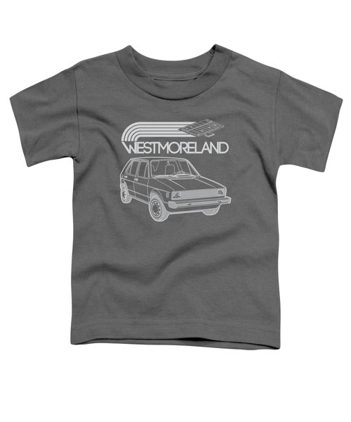 Vw Rabbit - Westmoreland Theme - Gray Toddler T-Shirt by Ed Jackson