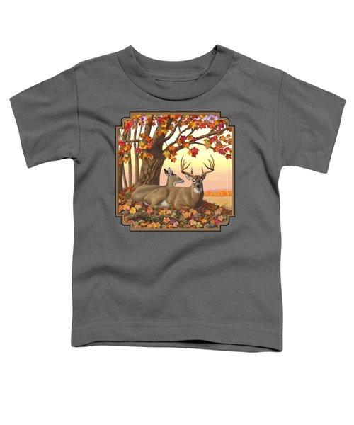 Whitetail Deer - Hilltop Retreat Toddler T-Shirt by Crista Forest
