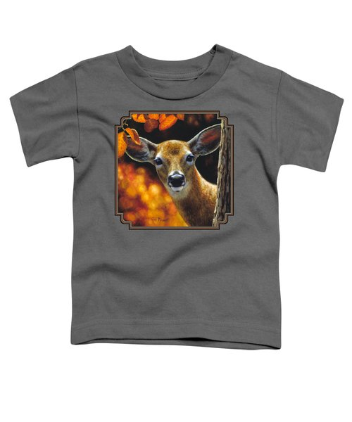 Whitetail Deer - Surprise Toddler T-Shirt by Crista Forest