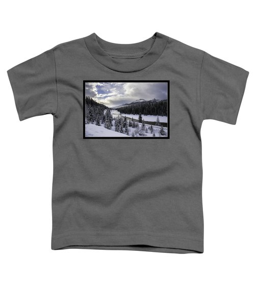 Winter In The Rockies Toddler T-Shirt by J and j Imagery