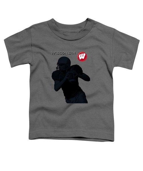 Wisconsin Football Toddler T-Shirt by David Dehner