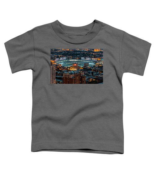 Wrigley Field From Park Place Towers Dsc4678 Toddler T-Shirt by Raymond Kunst
