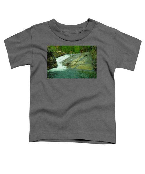 Yak Falls   Toddler T-Shirt by Jeff Swan