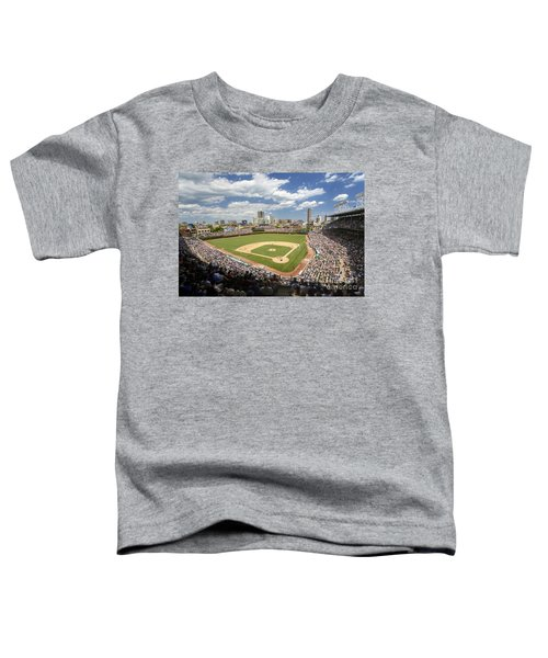 0415 Wrigley Field Chicago Toddler T-Shirt by Steve Sturgill