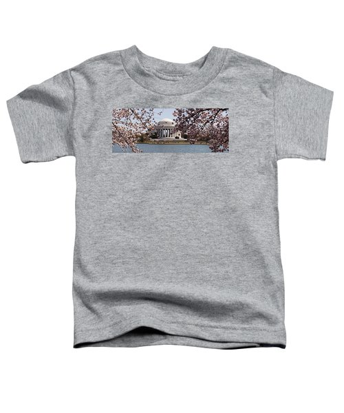 Cherry Blossom Trees In The Tidal Basin Toddler T-Shirt by Panoramic Images