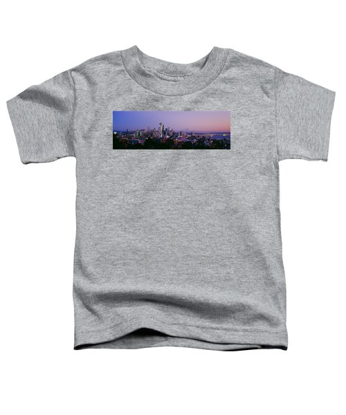 High Angle View Of A City At Sunrise Toddler T-Shirt by Panoramic Images