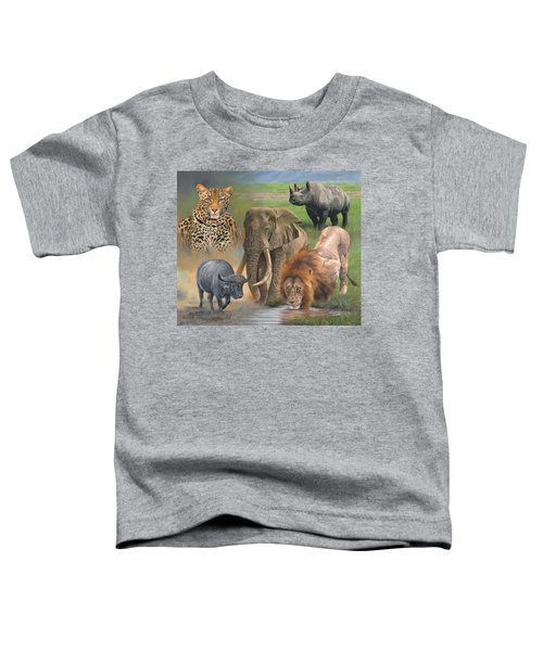 Africa's Big Five Toddler T-Shirt by David Stribbling