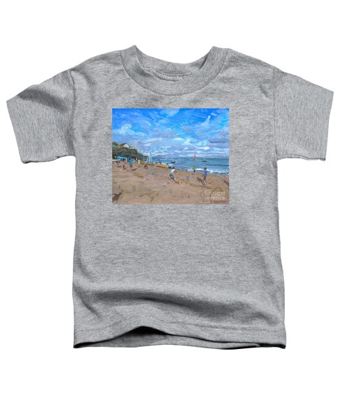 Beach Cricket Toddler T-Shirt by Andrew Macara
