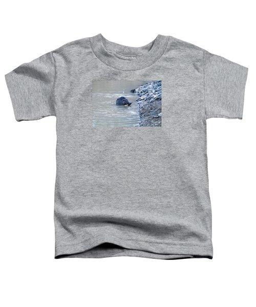 Beaver Chews On Stick Toddler T-Shirt by Chris Flees