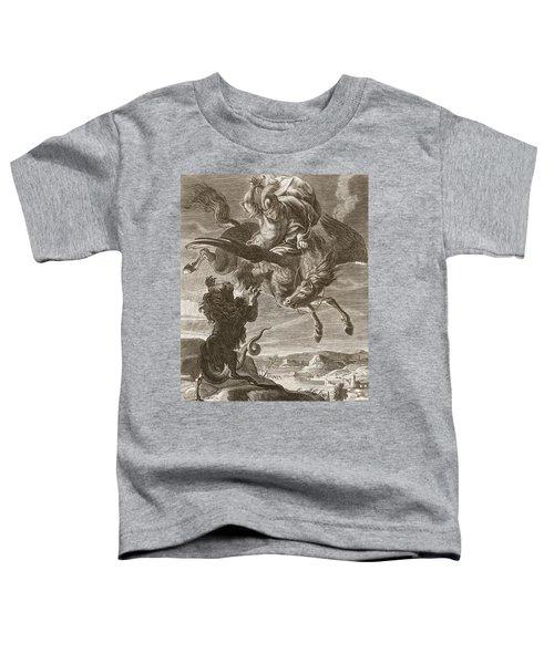 Bellerophon Fights The Chimaera, 1731 Toddler T-Shirt by Bernard Picart