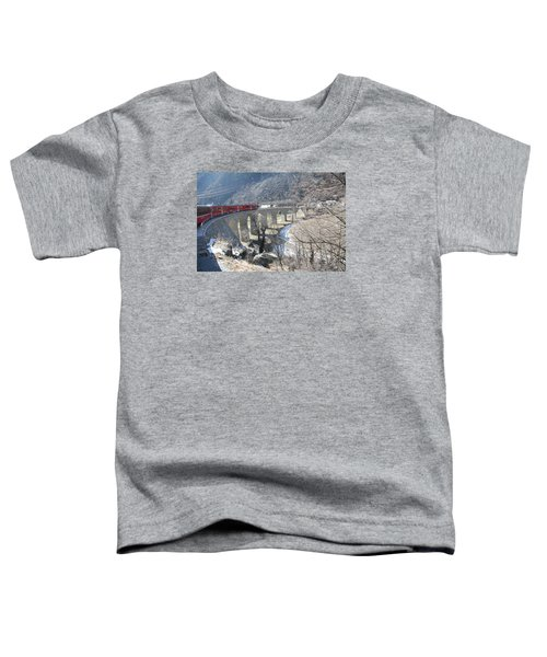 Toddler T-Shirt featuring the photograph Bernina Express In Winter by Travel Pics
