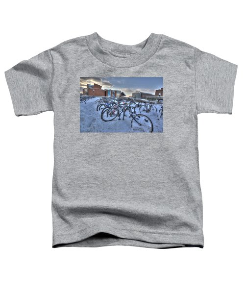 Bikes At University Of Minnesota  Toddler T-Shirt by Amanda Stadther