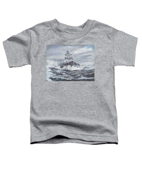 Bismarck Off Greenland Coast  Toddler T-Shirt by Vincent Alexander Booth