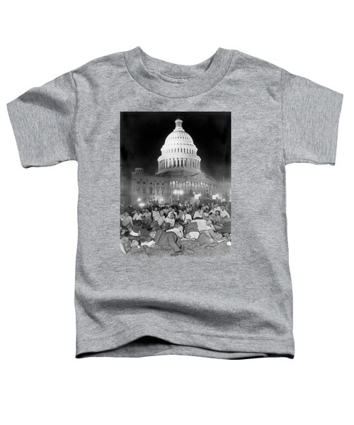 Bonus Army Sleeps At Capitol Toddler T-Shirt by Underwood Archives