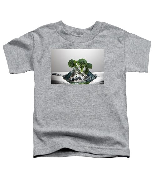 Broccoli Freshsplash Toddler T-Shirt by Steve Gadomski