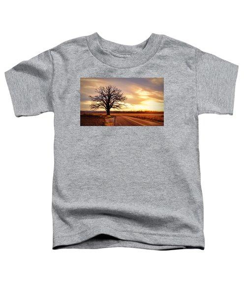 Burr Oak Silhouette Toddler T-Shirt by Cricket Hackmann