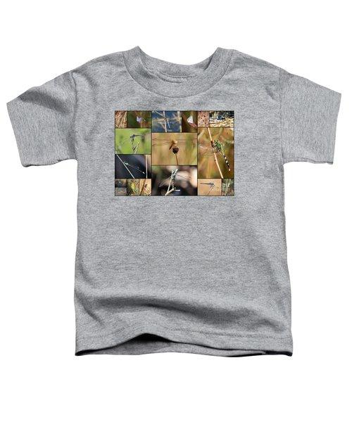 Collage Marsh Life Toddler T-Shirt by Carol Groenen