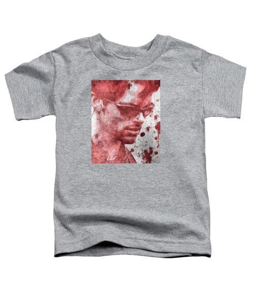 Cyclops X Men Paint Splatter Toddler T-Shirt by Dan Sproul