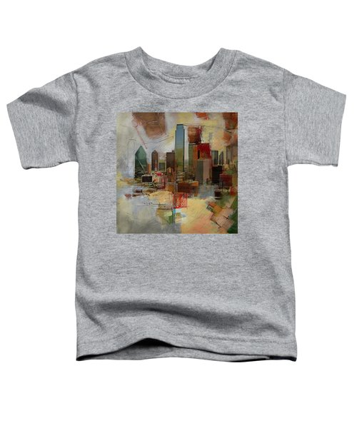 Dallas Skyline 003 Toddler T-Shirt by Corporate Art Task Force