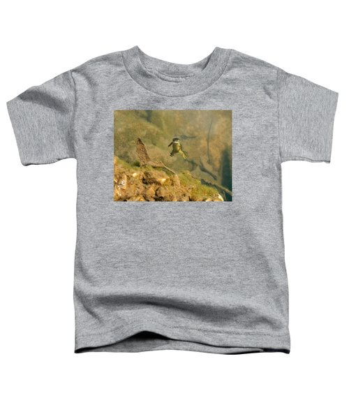 Eastern Newt In A Shallow Pool Of Water Toddler T-Shirt by Chris Flees