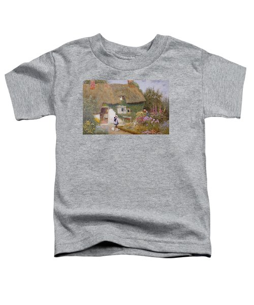 Feeding The Pigeons Toddler T-Shirt by Arthur Claude Strachan
